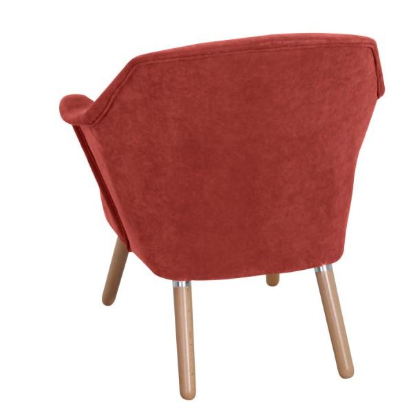 sessel stuhl wohnzimmer weich polyester retro look schick edel retrostil - Wohnzimmer Schick