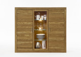 Highboard Sideboard Anrichte Wildeiche massiv