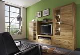 Wohnwand Anbauwand Wohnzimmer 5-teilig Wildeiche massiv