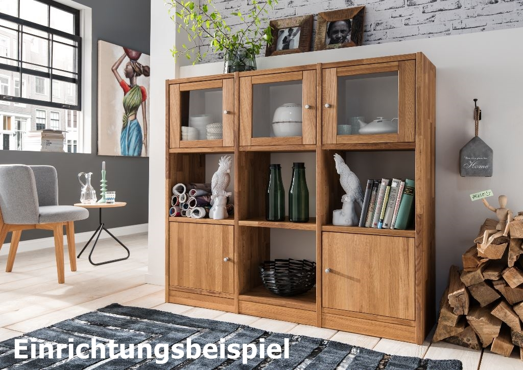regal b cherregal standregal 9 f cher b roregal wildeiche massiv aufbewahrung wohnzimmer. Black Bedroom Furniture Sets. Home Design Ideas