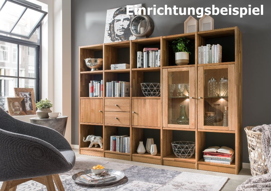 regal b cherregal standregal 20 f cher b roregal wildeiche massiv aufbewahrung wohnzimmer. Black Bedroom Furniture Sets. Home Design Ideas