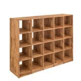 Regal Bücherregal Standregal 20 Fächer Büroregal Wildeiche massiv Aufbewahrung