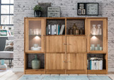 Regalkombination Wildeiche massiv Regal mit Türen Sideboard Anrichte Highboard