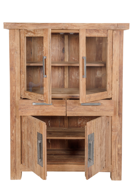 Highboard Sideboard Recyceltes Teak Kommode Geschirrschrank Vintage
