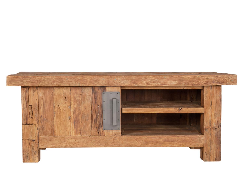 lowboard klein tv kommode tv schrank tv tisch recyceltes teakholz vintage wohnzimmer tv m bel. Black Bedroom Furniture Sets. Home Design Ideas