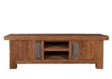Lowboard groß TV-Kommode TV-Schrank TV-Tisch recyceltes Teakholz Vintage