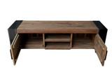 Lowboard TV-Tisch Fernsehschrank recyceltes Teakholz TV-Kommode Medienkommode