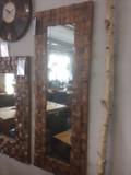 Spiegel Wandspiegel massiv 90x170 cm Vintage UNIKAT Teak AUSSTELLUNGSSTÜCK