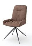 Stuhl 2 er Set Birga MCA cappucino Esszimmerstuhl anthrazit lackiert Küchenstuhl