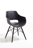 Stuhl Sessel Kunststoff schwarz modern SET 4 Stück  Besprechung Wartezimmer