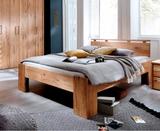 Bett Ehebett 180x200 stabil Wildeiche geölt massiv Doppelbett Eiche Holz