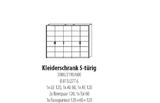 System Kleiderschrank 5 türig Wildeiche geölt Modul Schrank erweiterbar massiv