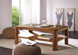 Couchtisch Sofatisch Beistelltisch Sheesham massiv Tisch MONTIERT 118x45x70 cm