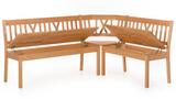 Eckbankgruppe SET 194 x 154 Kernbuche massiv Klappen Tisch 130x90 Stühle Kissen