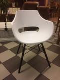 Stuhl SET 4 Sessel Kunststoff weiß design Besprechungsstuhl Wartezimmerstuhl