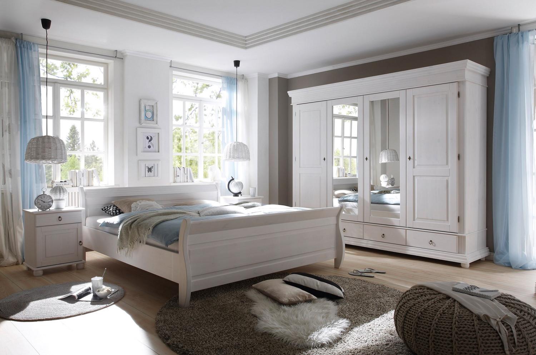 Schlafzimmer Set Kleiderschrank 4trg. Doppelbett 180x200 Nakos ...