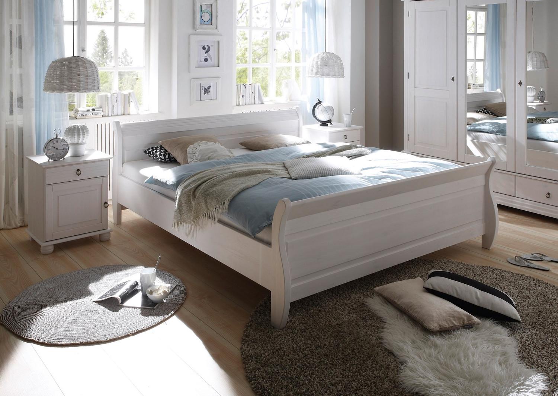 Schlafzimmer set kleiderschrank 4trg doppelbett 180x200 nakos kiefer landhaus schlafzimmer - Massivholz wohnzimmermobel ...