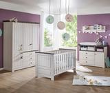 Babyzimmer 5tlg. Kleiderschrank Baby/Kinderbett Wickelkommode Wandregal Kiefer