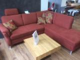 Sofa Ecksitzgruppe Polstersofa Sessel Couch lachsfarben AUSSTELLUNGSSTÜCK