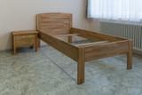 Komfortbett Bett Einzelbett Kernbuche massiv geölt extrem stabil