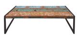 BALI Couchtisch Recyceltes Altholz Mit Schwarzen Altmetall Und Gebrauchsspuren Bunt Mit Antikschwarz
