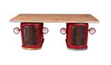 THIS & THAT Traktor-Schreibtisch Altmetall Rot
