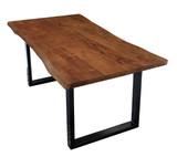 TISCHE & BÄNKE Tisch 120x80 Akazie Nussbaumfarbig