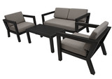Lounge-Set 4-teilig Grau