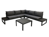 Lounge-Set 2-teilig Grau