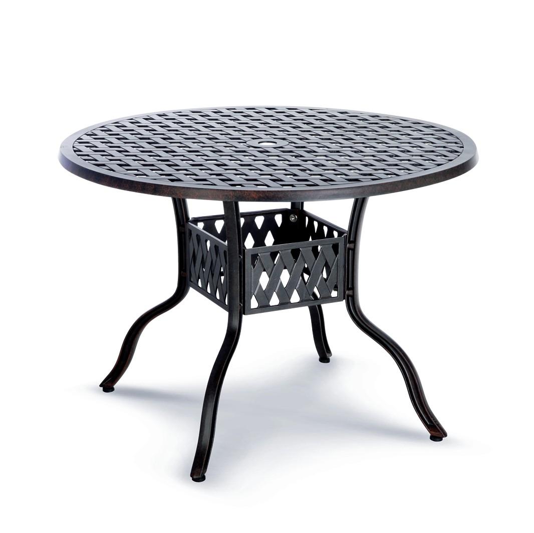 Rundtisch Tisch Rund Alu Guss Massiv Aluminium Bronce Weiss