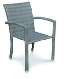 Stapelsessel Sessel Gartensessel Stuhl wetterfest Geflecht grau braun bequem
