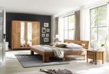 Schlafzimmer Komplett Set Kernbuche massiv geölt Spiegeltürenschrank Bett modern
