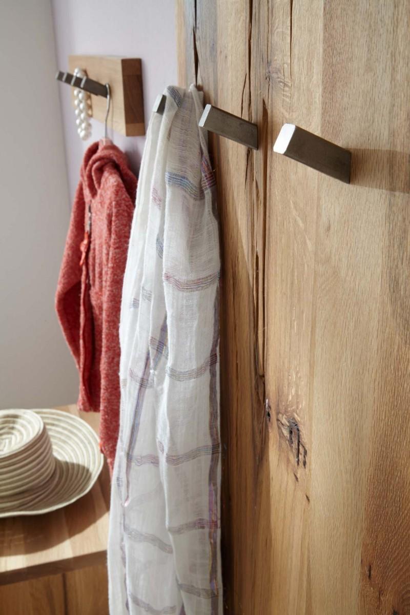 Wandgarderobe garderobe paneel flur balken eiche massiv for Garderoben set echtholz