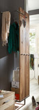Wandgarderobe Garderobe Paneel Flur Balken Eiche massiv natur white wash