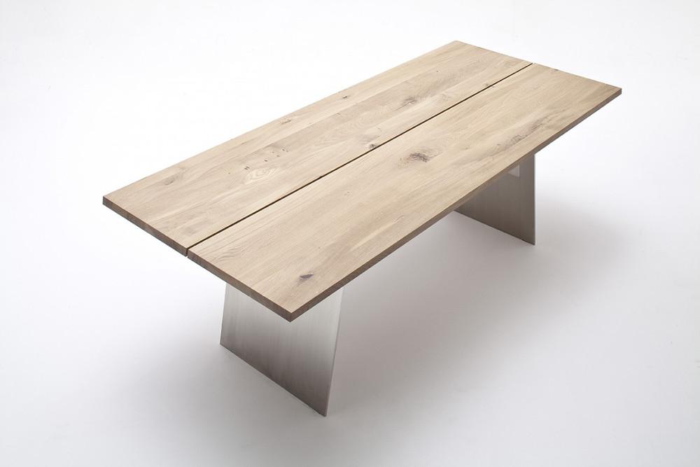 Esstisch Tisch Wangentisch Asteiche Eiche bianco geölt massiv Stahlgestell