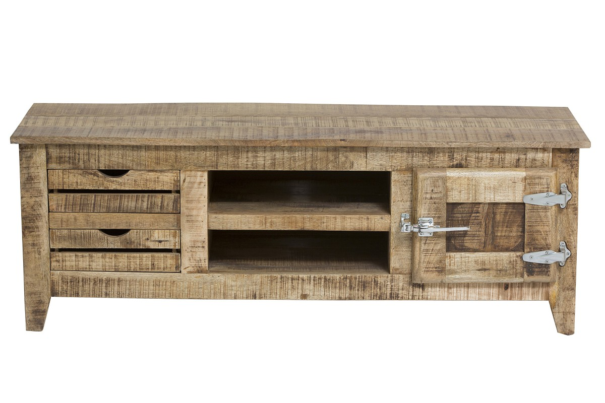 lowboard tv board rack mango massiv lackiert wohnzimmer rustikal wohnzimmer tv m bel lowboards racks. Black Bedroom Furniture Sets. Home Design Ideas