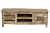 Lowboard TV Board Rack Mango massiv lackiert Wohnzimmer rustikal