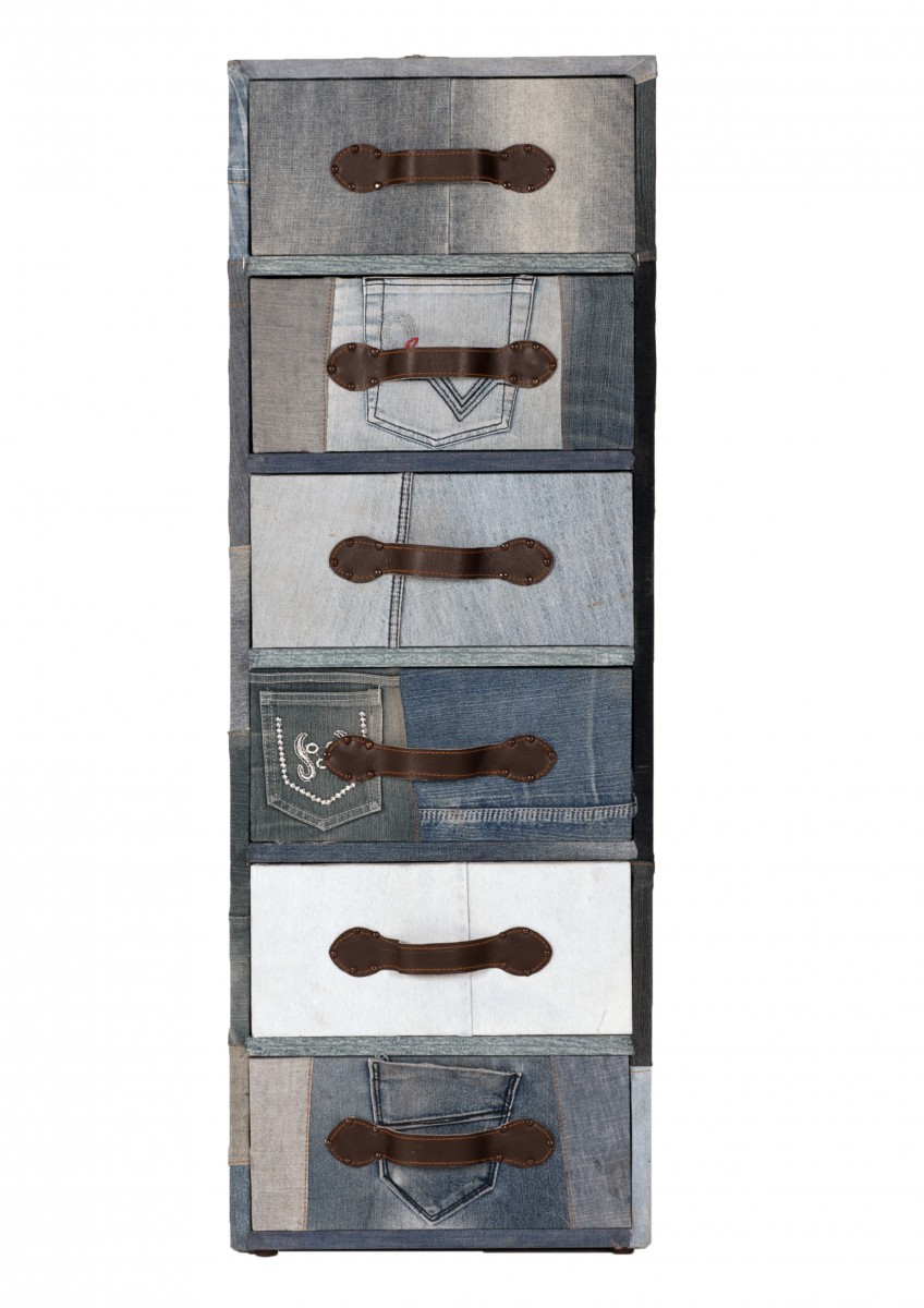 schubladenkommode kommode jeans jeansstoff bezogen. Black Bedroom Furniture Sets. Home Design Ideas