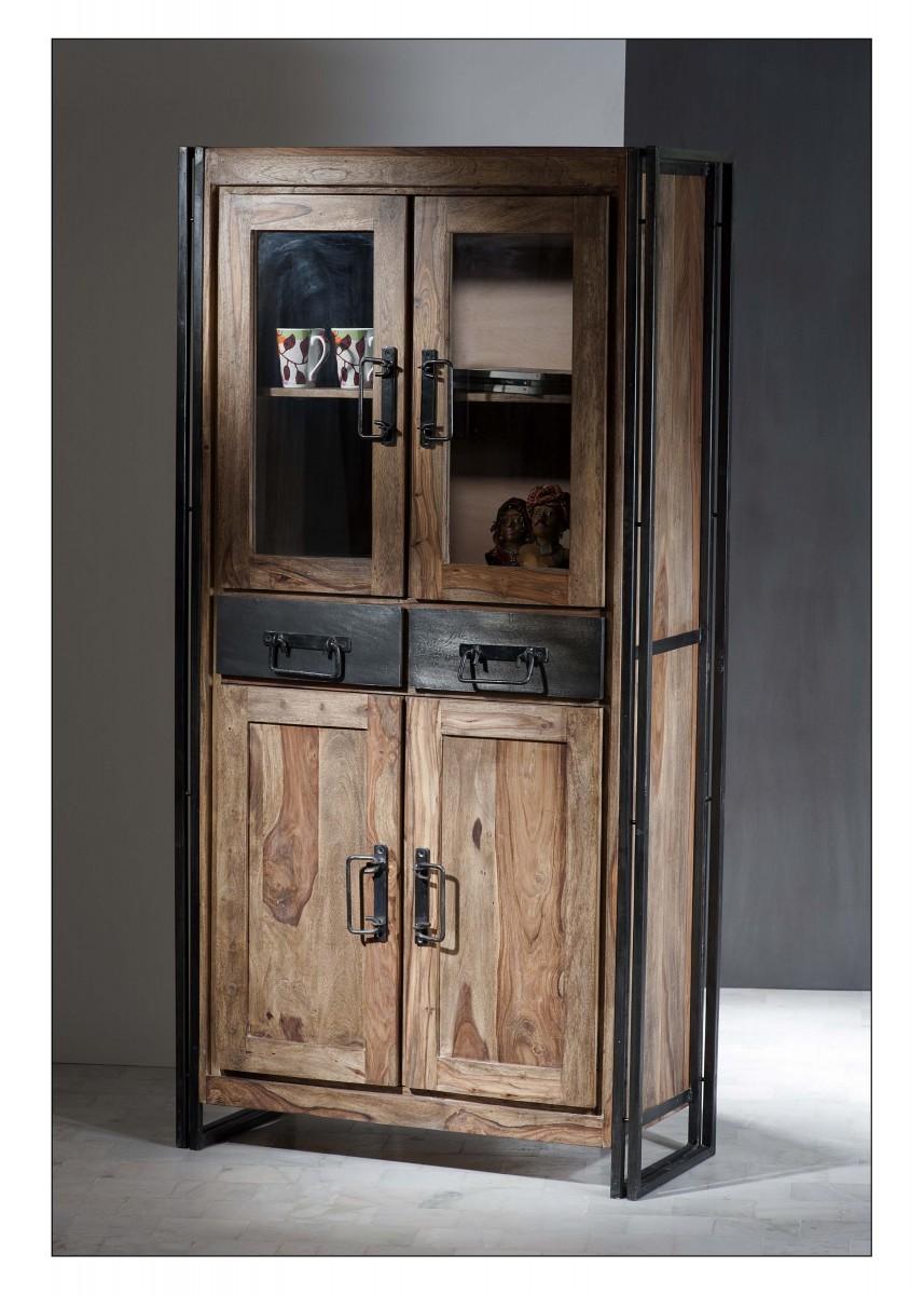 vitrine vitrinenschrank schrank rosenholz palisander altmetall vintage factory esszimmer. Black Bedroom Furniture Sets. Home Design Ideas