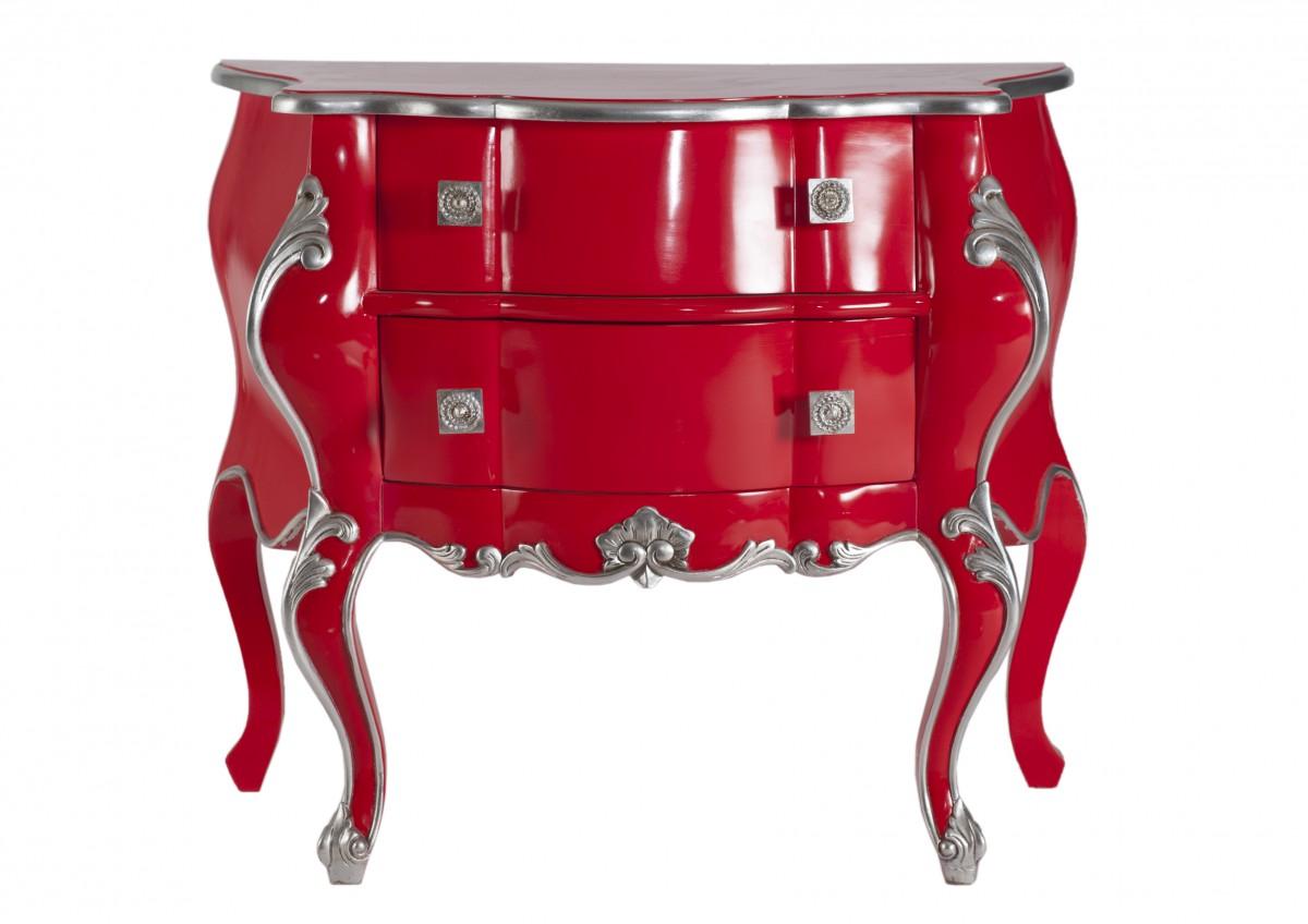 kommode wschekommode anrichte rot silber viktorianisch jugendstil pomps luxus