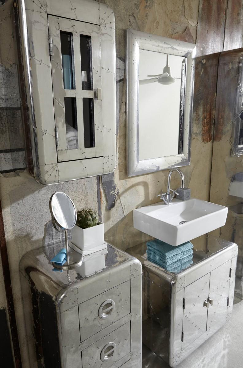 Hängeschrank wandschrank badschrank badezimmer badmöbel aluminium ...