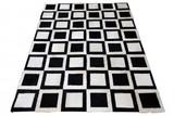 Teppich Fellteppich schwarz weiss Kuhfell gefärbt Echtfell Wohnzimmerteppich