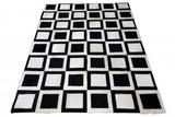 Teppich Fellteppich schwarz weiss Kuhfell gefärbt Echtfell 200 x 300 cm