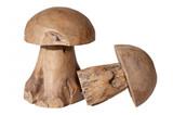 Dekopilz Pilz Holz Holzpilz Holzdeko Deko Wohnaccessoires Holzdeko Wood Teak