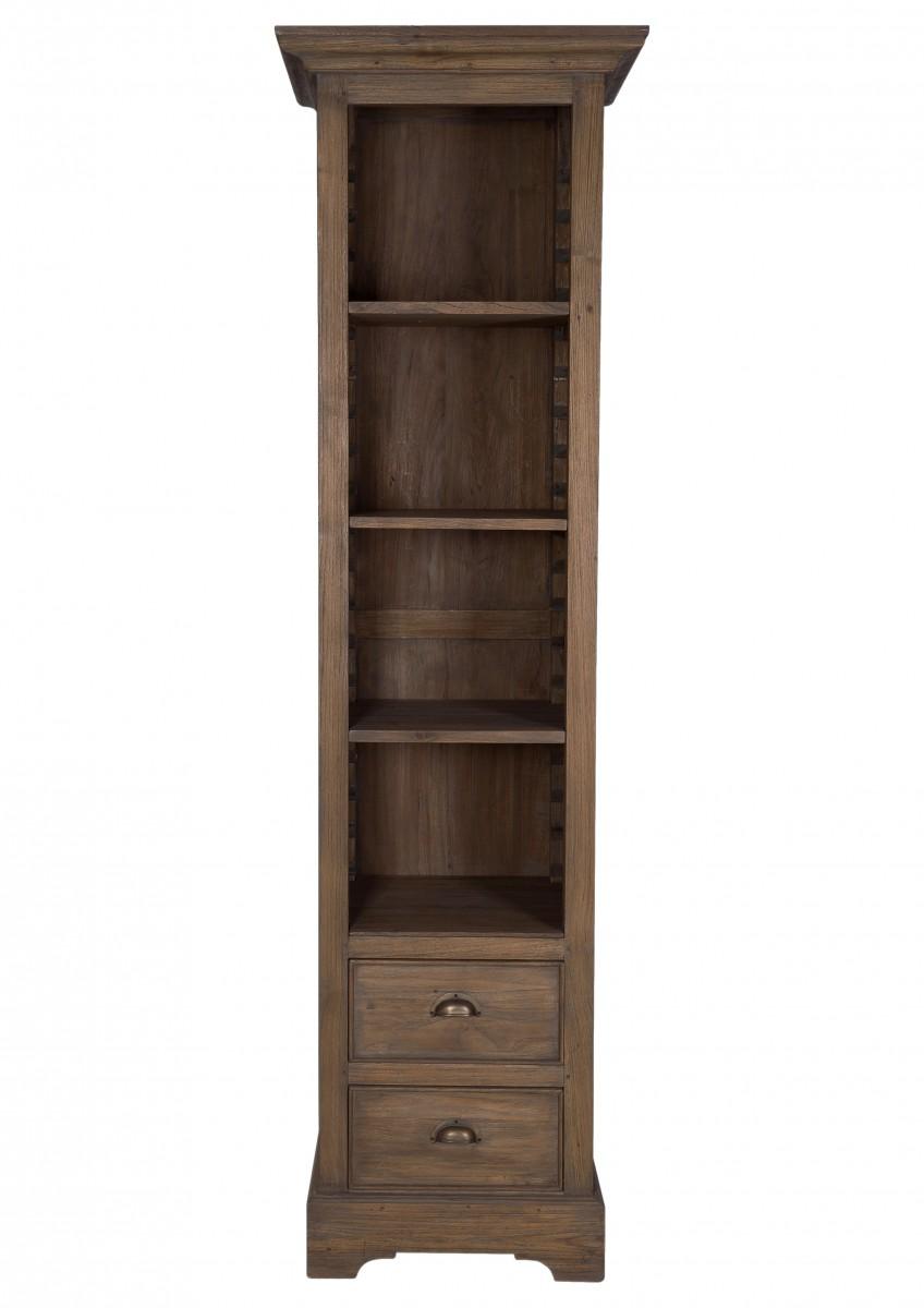 Aktenregal Regal Schrank Wohnzimmerschrank Buro Teak Recycelt Holz
