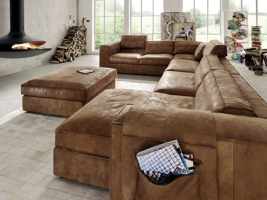 Eckgarnitur mit hocker u form ecksofa wohnlandschaft couch for Couch u form klein
