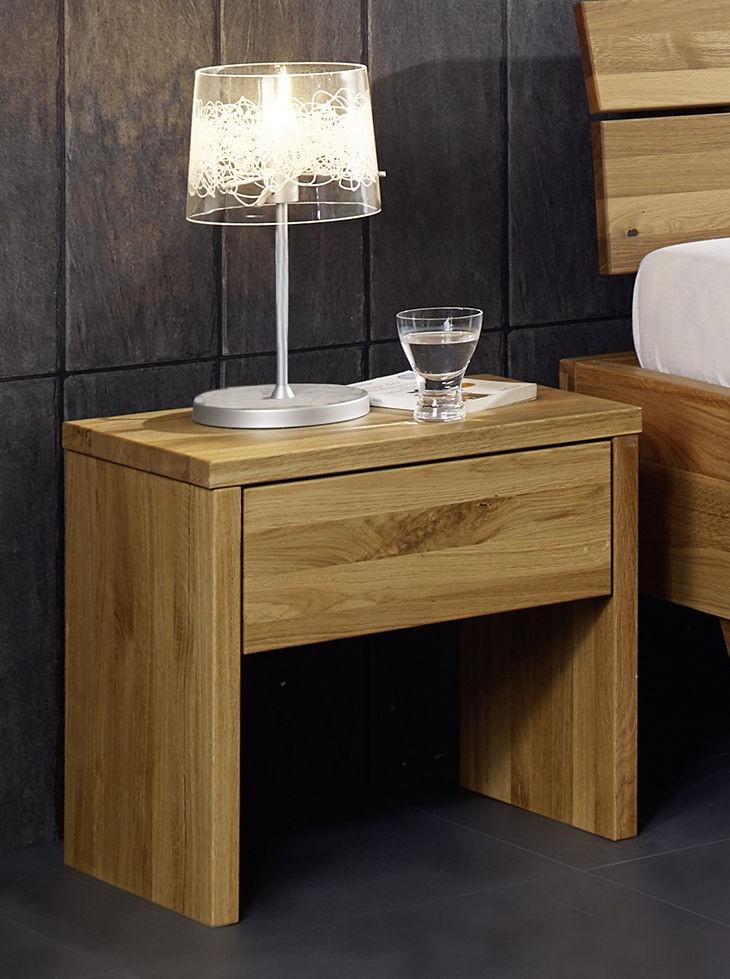 Nachtkommode Nachttisch Schublade Bettkommode Nako Wildeiche massiv geölt