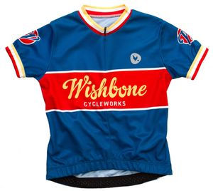 Wishbone T-Shirt Blau