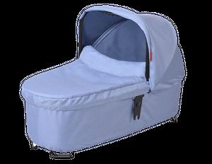 phil & teds Dash snug Babywanne blue marl – Bild 1
