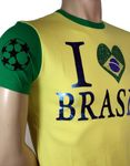 "JEEL Slim-Fit Fan-Shirt ""I love Brasil"" in gelb Bild 3"
